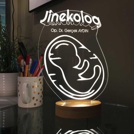 - 3D Oval Bebek Figürlü Jinokolog Aydınlatma Lambası