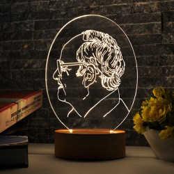 Oval Adam Profili Aydınlatma Lambası - Thumbnail