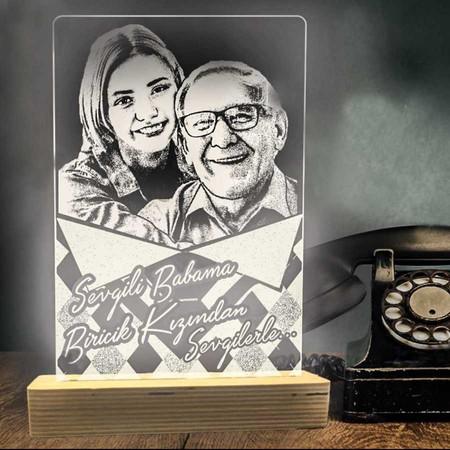 - Babalar Günü Aydınlatma Lambası Desenli Model