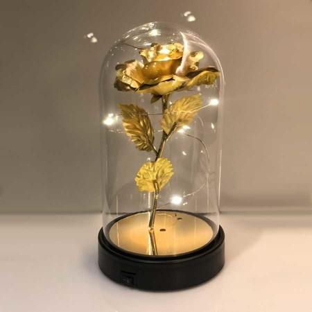 - Cam Fanus Gold Gül Siyah Plastik Tabanlı Lamba