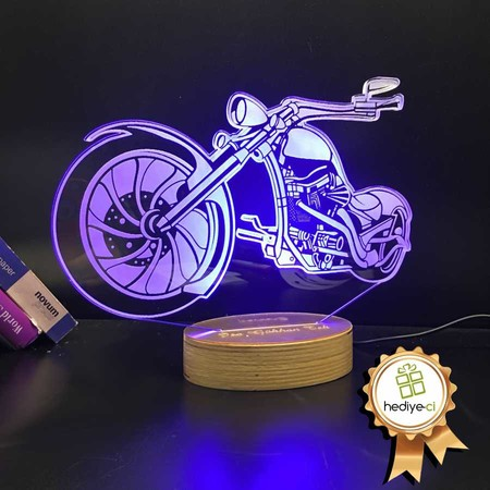 - Chopper Model Motorsiklet 3D Led Lamba
