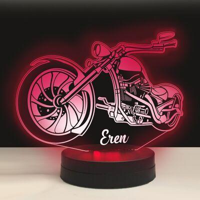 Chopper Model Motorsiklet 3D Led Lamba