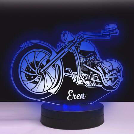 Chopper Model Motorsiklet 3D Led Lamba - Thumbnail