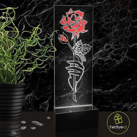 - Çiçek Boyalı Led Lamba