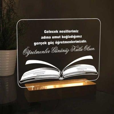 Dikdörtgen Kitap Modelli Led Lamba