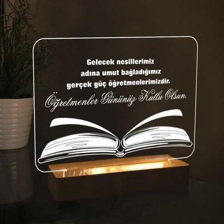 - Dikdörtgen Kitap Modelli Led Lamba
