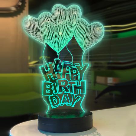 Happy Birthday Yazılı Led Lamba - Thumbnail