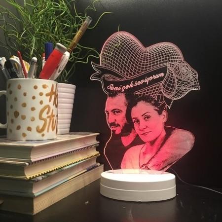 - Kalpli Güllü Led Lamba