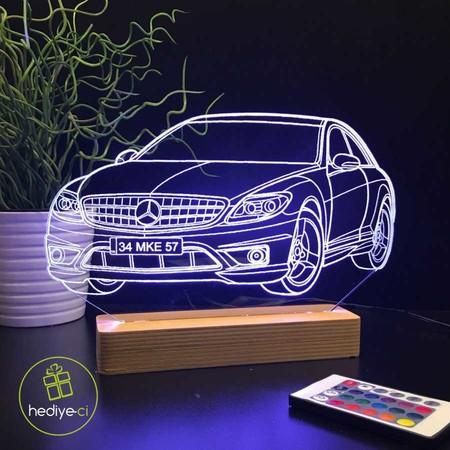 Kişiye Özel Araba Modelli Aydınlatma Lambası - Thumbnail