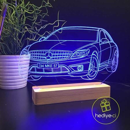 - Kişiye Özel Araba Modelli Led 3D Lamba