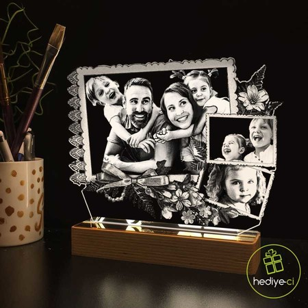 - Kişiye Özel 3D Fotoğraf Albümlü Lamba