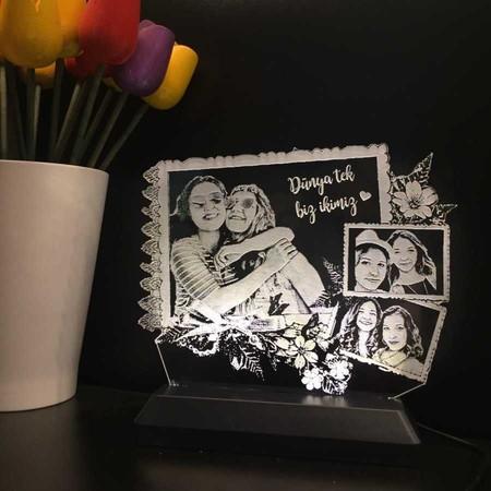 Kişiye Özel 3D Fotoğraf Albümlü Lamba - Thumbnail