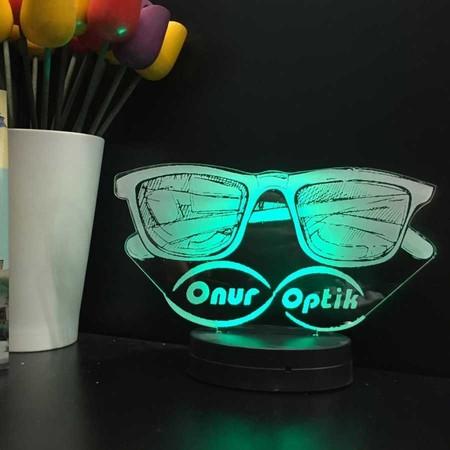 - Kişiye Özel 3D Gözlükçü Lamba