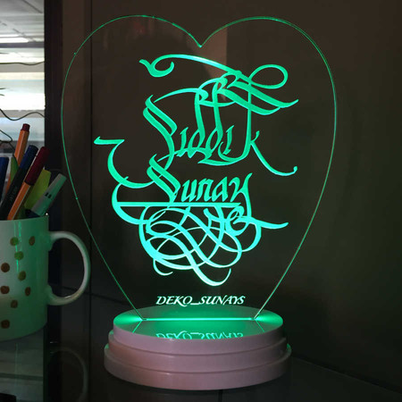- Kişiye Özel Hat Yazılı Led Lamba
