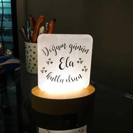 - Kişiye Özel Yazılı Mini Led Lamba