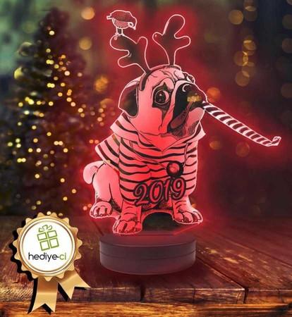 - Köpekli Yılbaşı Aydınlatma Lambası