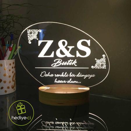 - Kurumsal Logonuz İçin Özel Tasarım Led Lamba Oval Alltık
