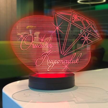- Kuyumculara Özel Tasarım 3D Lamba