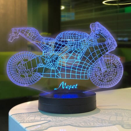Motorsiklet 3D Lamba - Thumbnail