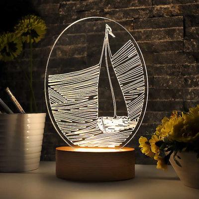 Oval Gemi Figürlü Aydınlatma Lambası