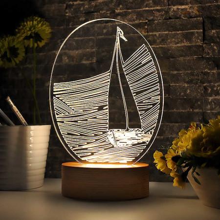 - Oval Gemi Figürlü Gece Lambası