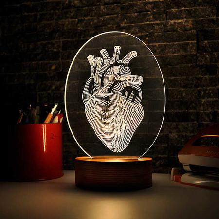 Oval Kalp Figürlü Aydınlatma Lambası - Thumbnail