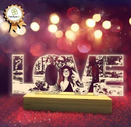 - Resimli Love Led Lamba